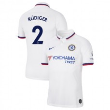 Chelsea #2 Antonio Rudiger White Away Authentic Jersey 2019/20