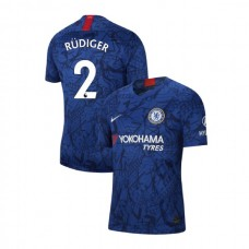 Chelsea Stadium #2 Antonio Rudiger Blue Home Authentic Jersey 2019/20