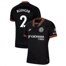 Chelsea #2 Antonio Rudiger Black Third Authentic Jersey 2019/20