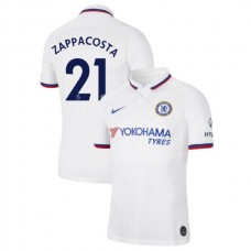 Chelsea #21 Davide Zappacosta White Away Authentic Jersey 2019/20