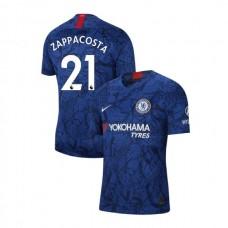 Chelsea Stadium #21 Davide Zappacosta Blue Home Authentic Jersey 2019/20