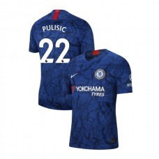 Chelsea Stadium #22 Christian Pulisic Blue Home Authentic Jersey 2019/20