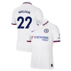 Chelsea #22 Willian White Away Authentic Jersey 2019/20