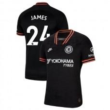 Chelsea #24 Reece James Black Third Authentic Jersey 2019/20