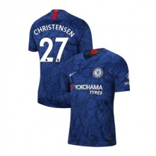 Chelsea Stadium #27 Andreas Christensen Blue Home Authentic Jersey 2019/20