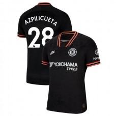 Chelsea #28 Cesar Azpilicueta Black Third Authentic Jersey 2019/20