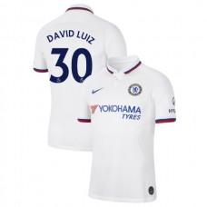 Chelsea #30 David Luiz White Away Authentic Jersey 2019/20
