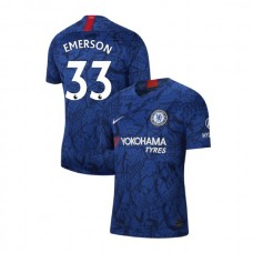 Chelsea Stadium #33 Emerson Blue Home Authentic Jersey 2019/20