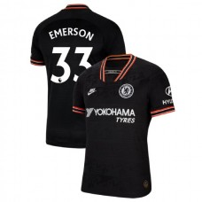Chelsea #33 Emerson Black Third Authentic Jersey 2019/20