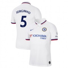 Chelsea #5 Jorginho White Away Authentic Jersey 2019/20