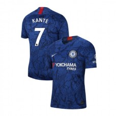 Chelsea Stadium #7 N'Golo Kante Blue Home Authentic Jersey 2019/20