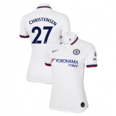 WOMEN'S Chelsea Away #27 Andreas Christensen White Authentic Jersey 2019/20