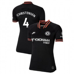 WOMEN'S Chelsea Third #4 Andreas Christensen Black Authentic Jersey 2019/20
