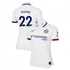 WOMEN'S Chelsea Away #22 Christian Pulisic White Authentic Jersey 2019/20