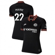 WOMEN'S Chelsea Third #22 Christian Pulisic Black Authentic Jersey 2019/20
