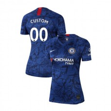 WOMEN'S Chelsea Home Stadium #00 Custom Blue Authentic Jersey 2019/20
