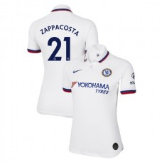 WOMEN'S Chelsea Away #21 Davide Zappacosta White Authentic Jersey 2019/20