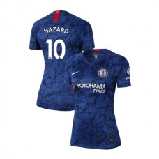WOMEN'S Chelsea Home Stadium #10 Eden Hazard Blue Authentic Jersey 2019/20
