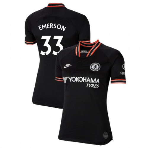 WOMEN'S Chelsea Third #33 Emerson Black Replica Jersey 2019/20