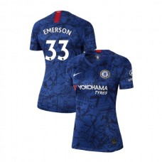 WOMEN'S Chelsea Home Stadium #33 Emerson Blue Authentic Jersey 2019/20