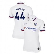 WOMEN'S Chelsea Away #44 Ethan Ampadu White Authentic Jersey 2019/20