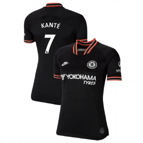 WOMEN'S Chelsea Third #7 N'Golo Kante Black Authentic Jersey 2019/20