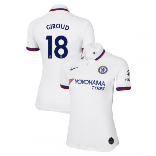 WOMEN'S Chelsea Away #18 Olivier Giroud White Authentic Jersey 2019/20