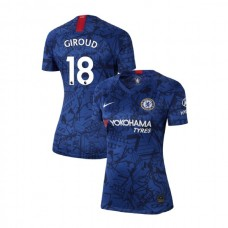 WOMEN'S Chelsea Home Stadium #18 Olivier Giroud Blue Authentic Jersey 2019/20