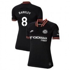 WOMEN'S Chelsea Third #8 Ross Barkley Black Authentic Jersey 2019/20