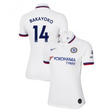 WOMEN'S Chelsea Away #14 Tiemoue Bakayoko White Authentic Jersey 2019/20