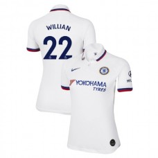 WOMEN'S Chelsea Away #22 Willian White Authentic Jersey 2019/20