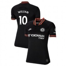WOMEN'S Chelsea Third #10 Willian Black Authentic Jersey 2019/20