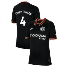 KIDS Chelsea Third #4 Andreas Christensen Black Authentic Jersey 2019/20