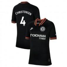 KIDS Chelsea Third #4 Andreas Christensen Black Authentic Jersey 2019/20