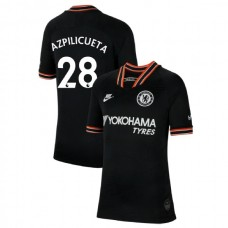 KIDS Chelsea Third #28 Cesar Azpilicueta Black Authentic Jersey 2019/20