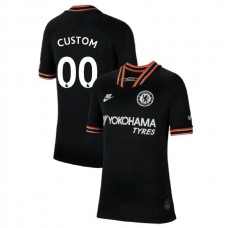 KIDS Chelsea Third #00 Custom Black Authentic Jersey 2019/20