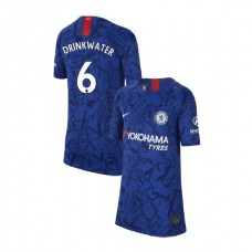 KIDS Chelsea Home Stadium #6 Danny Drinkwater Blue Authentic Jersey 2019/20