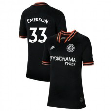 KIDS Chelsea Third #33 Emerson Black Authentic Jersey 2019/20