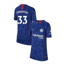 KIDS Chelsea Home Stadium #33 Emerson Blue Authentic Jersey 2019/20