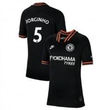 KIDS Chelsea Third #5 Jorginho Black Authentic Jersey 2019/20