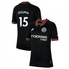 KIDS Chelsea Third #15 Kurt Zouma Black Authentic Jersey 2019/20