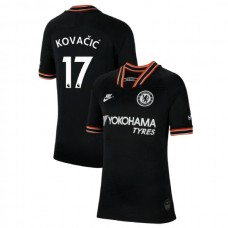 KIDS Chelsea Third #17 Mateo Kovacic Black Authentic Jersey 2019/20