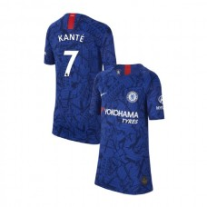 KIDS Chelsea Home Stadium #7 N'Golo Kante Blue Replica Jersey 2019/20