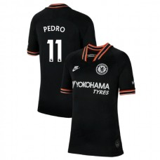 KIDS Chelsea Third #11 Pedro Black Authentic Jersey 2019/20