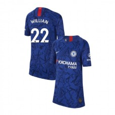 KIDS Chelsea Home Stadium #22 Willian Blue Authentic Jersey 2019/20