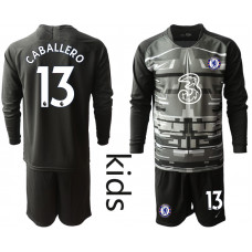 YOUTH - Chelsea 2020-21 Goalkeeper #13 Willy Caballero Black Long-Sleeved Soccer Jersey
