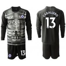 Chelsea 2020-21 Goalkeeper #13 Willy Caballero Black Long-Sleeved Soccer Jersey