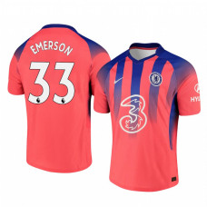 Chelsea 2020-21 Forward Emerson Palmieri Pinkish Third Authentic Jersey