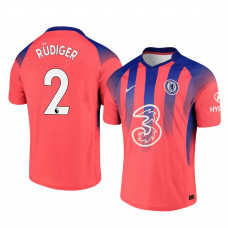Chelsea 2020-21 Antonio Rudiger Pinkish Third Authentic Jersey