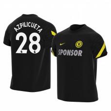Chelsea 2021-22 Cesar Azpilicueta Black Training Authentic Jersey
